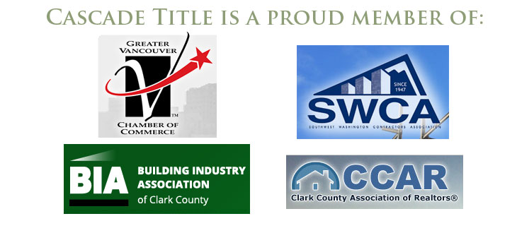 Cascade Title is a proud member of the following organizations: